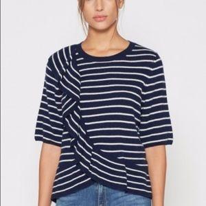 Joie Jayni B Ruffled Wool Cashmere Sweater XS